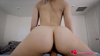 SisterCUMS.com: Slutty Sister (Allie Nicole) Ass Banged