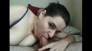sucking and deepthroat blowjob part1
