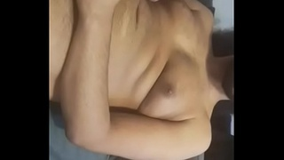 Male solo and cumshot on couch