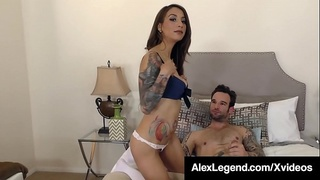 Big Cock Alex Legend Pussy Pounds Stassi Sinclair!