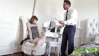 Bad gal Alexa spread her legs for dad and gets railed!