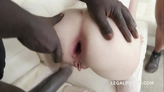 Big and Deep in The Ass, Sara Bell gets 3 BBC to the bottom, No Pussy, DAP, Gapes, Creampie Swallow from Glass GIO921