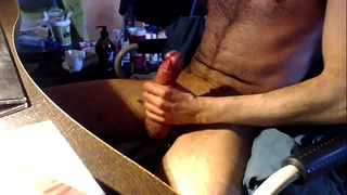 long clip of an even longer night of jerking my massive cock on cam
