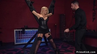 Bf anal fucks busty and hairy blonde gf
