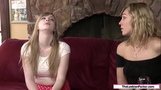 Curious teen licked by her friend