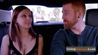 Laura gets her boobies sucked while foreplaying with other couples