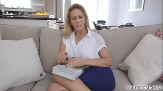 Busty stepmom spread her legs wide for stepsons cock!