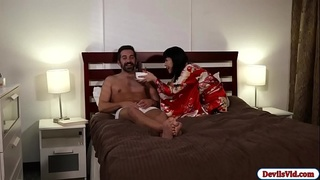 Hot asian passionately fucked by her guy