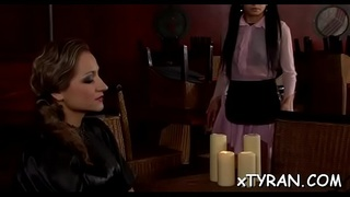 Glamor maid Gina Killmer gets squeezed and teased