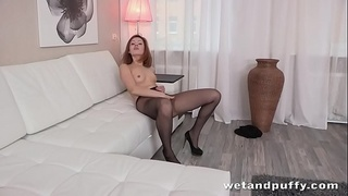 Ripped Stockings - Solo Anal and More