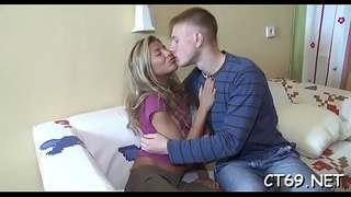 The coarse fucking makes legal age teenager bitch moan from bright orgasms