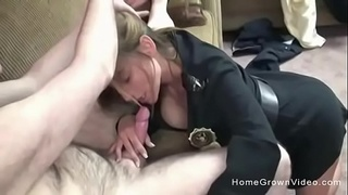 Amateur role play with a sexy big tit cop