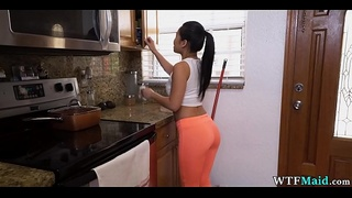 Sexy new Asian Cleaning Lady
