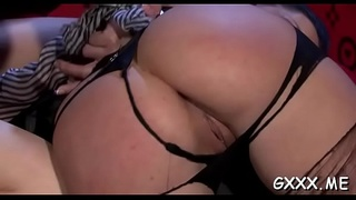 Foxy lesbo chick gets big hairless pussy fucked with toys
