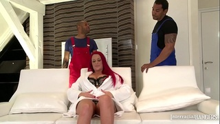 Interracial bangers wanna watch busty Redhead Paige Delight DP'_ed real hard