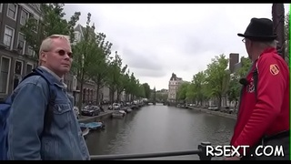 Lucky dude gets his ramrod sucked hard by an amsterdam hooker