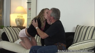 Deviant 18yo Euro pussy filled up with elder cock