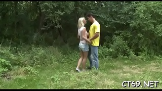 Legal age teenager babe gladly widens her legs to enjoy the fucking action