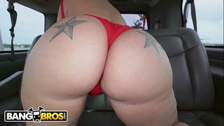 BANGBROS - Gram Famous Thicc Chick, Ashley Barbie, Hops On The Bang Bus