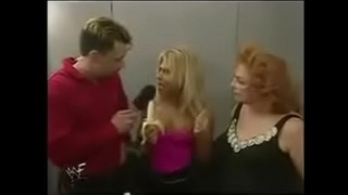Terri vs The Kat in an Arm Wrestling contest.