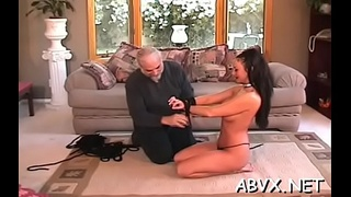 Young hottie loves the coarse play on her amateur pussy