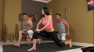 Horny european dudes ass fuck yoga teacher