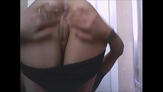 exhibitionist and horny mom, show her holes very close and please give your sperm