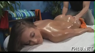 Hot sweetheart gets fucked hard and gives a massage!
