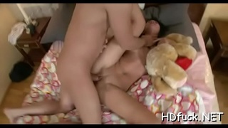 Mouthwatering honey widens legs for hardcore treatment