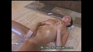 Wet Fingers Open Pussy For Play
