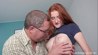 Old-n-Young.com - Foxy Lee - Old cock inside fresh pussy