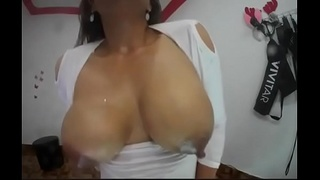 Michelle sex hard, fucks her ass with a lot of saliva, thick dildo. great, she loves it.