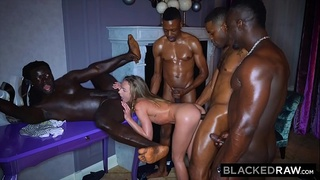 BLACKEDRAW All she wanted was to be passed around by 4 black guys