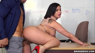 Kitty Caprice fucks hard to save her job (bbc15783)