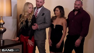 BANG Confessions - Abigail Mac fucks in front of friends for New Year