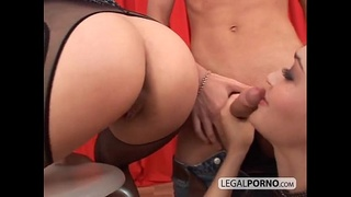 Huge cock fucking two horny babes in the ass SB-6-03